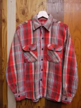 USA VTG COTTON FLANNEL SHIRT RED ML