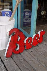BEER CHANNEL LETTERS TYPE IRON SIGN