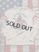 BUDWEISER×JUNKFOOD SWEATER SMALL WHITE