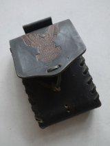 HARLEYDAVIDSON BLACK LACED HARD LETHER BAG BELT CASE PANNIER POUCH