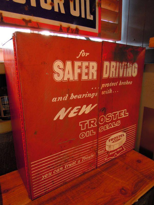Vintage Trostel Oil Seal Box Metal Cabinet Sixhelmets