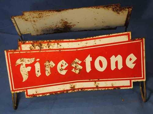 Firestone Tire Wire Rack Vintage 1960s Service Station