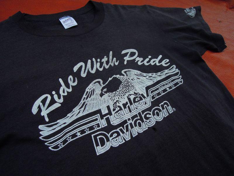 Harley Davidson Vintage T Shirt Ride With Pride