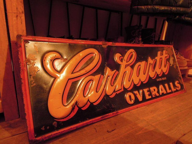 Carhartt Overalls Vintage Sign 1920s 1930s Sixhelmets