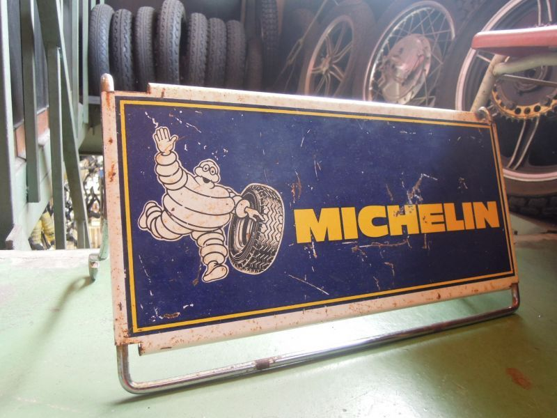 Motorcycle Tool Bag >> Vintage Michelin Tire Rack Stand Sign - sixhelmets quality ...