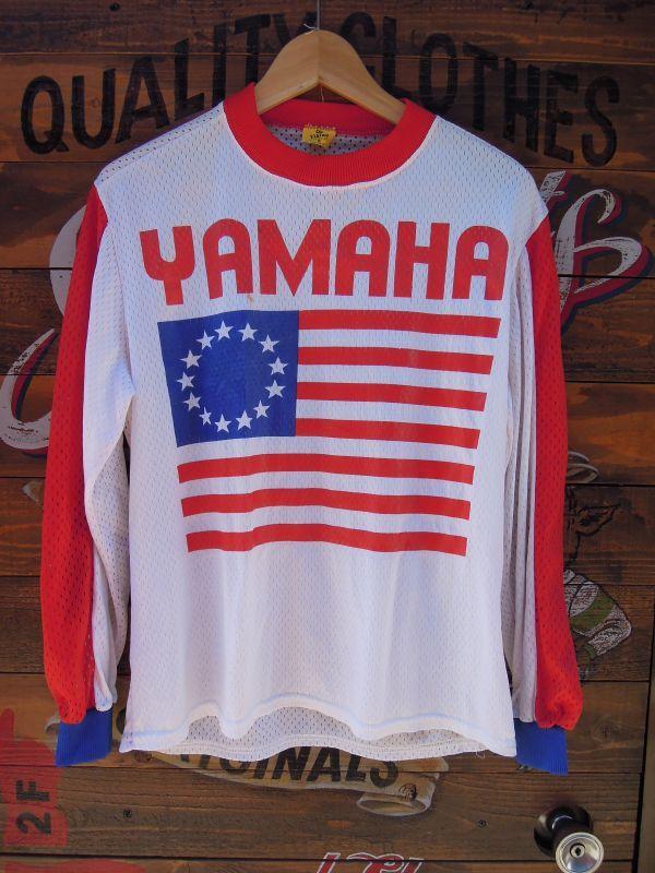 Viking Yamaha Vintage Motocross Mesh Shirt Small
