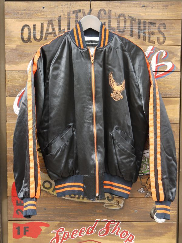 Amf Harley Davidson Satin Eagle Logo Jacket Medium