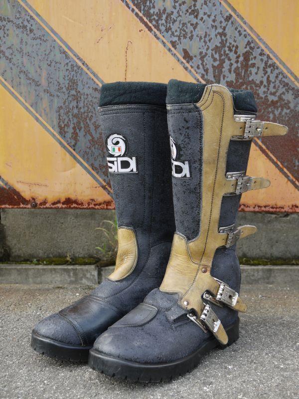 Sidi Vintage Motocross Boots Black 215 Brown 25cm