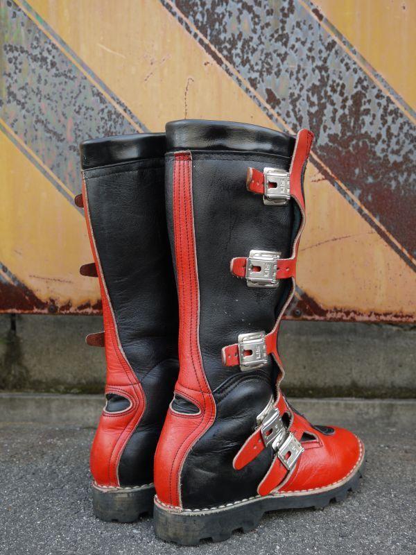 Sidi Vintage Motocross Boots Black 215 Red 26cm Sixhelmets