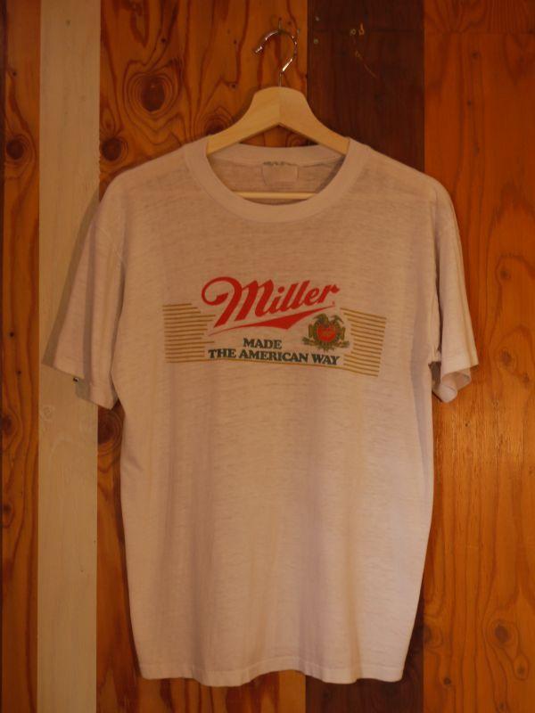Miller beer vintage t shirt white m sixhelmets quality for Vintage miller lite shirt