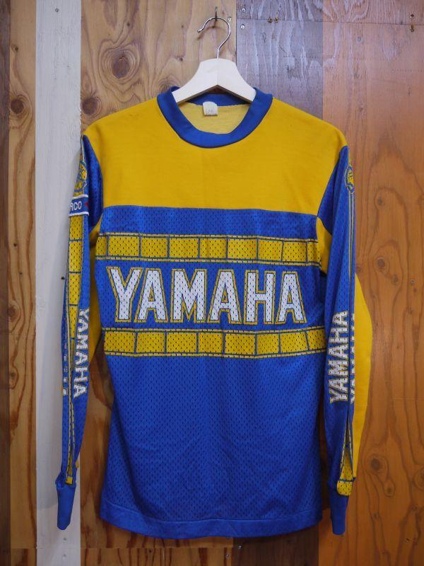 Yamaha Vintage Motocross Shirt Blue 215 Yellow M Sixhelmets