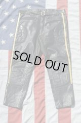 CHAMPION CLOTHING VTG MOTOCROSS LETHER PANTS BLACK L
