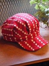 sixhelmets handpaint dot work cap red×white