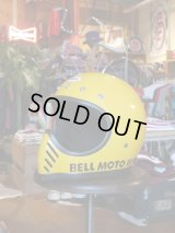 1970s BELL HELMETS MOTO3 FIRST MODEL SNELL75 YELLOW 58-59cm