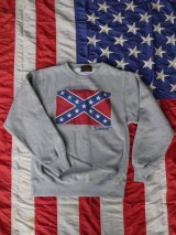 sixhelmets rebel flag sweat shirt gray 12oz
