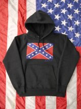 sixhelmets rebel flag sweat parka black 15.6oz