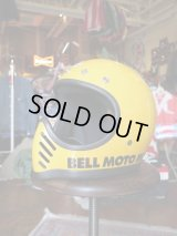 1970s BELL HELMETS MOTO3 FIRST MODEL SNELL75 YELLOW 56cm