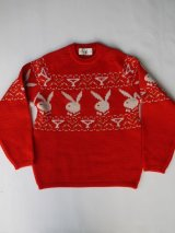 PLAYBOY VTG BUNNY LOGO KNITWEAR RED SMALL