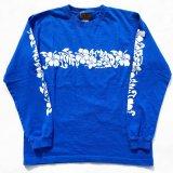 SIXHELMETS HAWAIIAN LONG SLEEVE T-SHIRT ROYAL BLUE