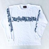 SIXHELMETS HAWAIIAN LONG SLEEVE T-SHIRT WHITE×BLUE NAVY