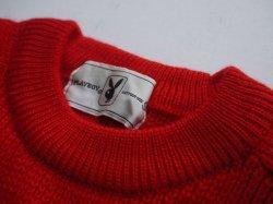 画像4: PLAYBOY VTG RABBIT HEAD LOGO KNITWEAR RED SMALL(2)