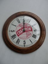 CHAMPION SPARK PLUG VINTAGE WOOD WALL CLOCK