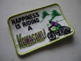 HAPPINESS IS RIDING A KAWASAKI VINTAGE PATCH