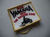 RIDE YAMAHA WITH THE RACERS EDGE VINTAGE PATCH