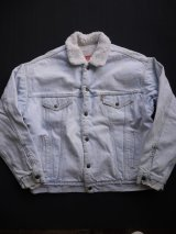 80's LEVIS DENIM BOA JACKET L ICE BLUE(3)