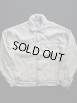 80's LEVIS DENIM BOA JACKET XL WHITE(1)