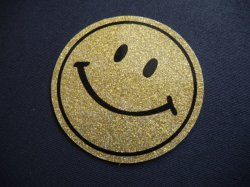 画像1: VTG SMILE GLITTER STICKER GOLD