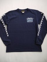 SIXHELMETS RACING CHECKER LONG SLEEVE T-SHIRT NAVY