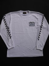 SIXHELMETS RACING CHECKER LONG SLEEVE T-SHIRT WHITE