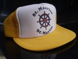 ST.MAARTEN ST.MARTIN VTG MESH CAP YELLOWxWHITE