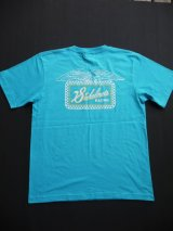 SIXHELMETS RACING CHECKER T-SHIRT TURQUOISE BLUE