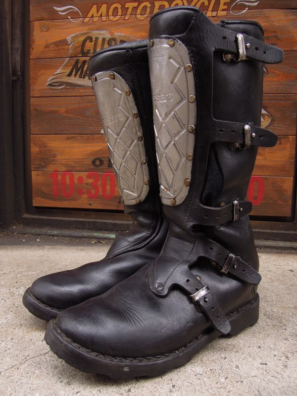 Vintage Alpinestars Hi Point Motocross Boots Leather Made