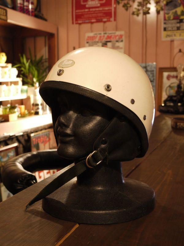 1960 S Vtg Buco Traveler Half Helmet White Sixhelmets