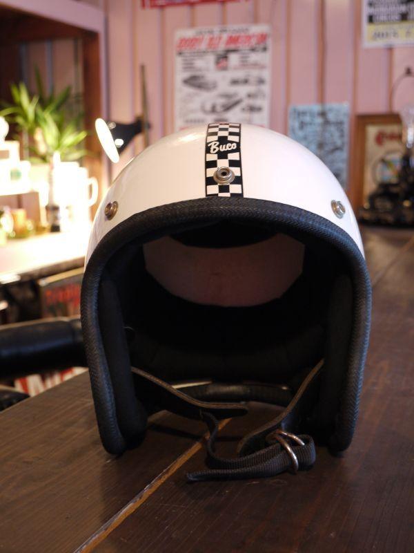 Buco Enduro Vintage Helmet Orange Checker Sixhelmets