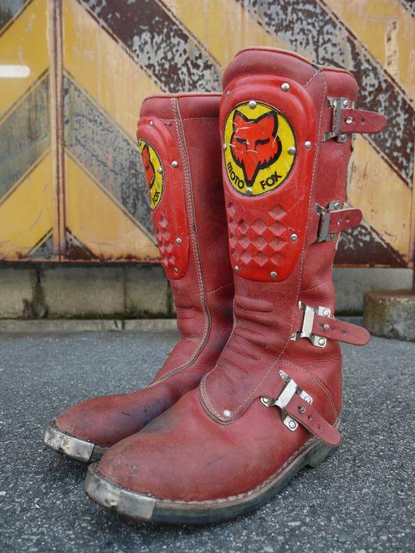 Axo Moto Fox Vintage Motocross Boots Red Sixhelmets