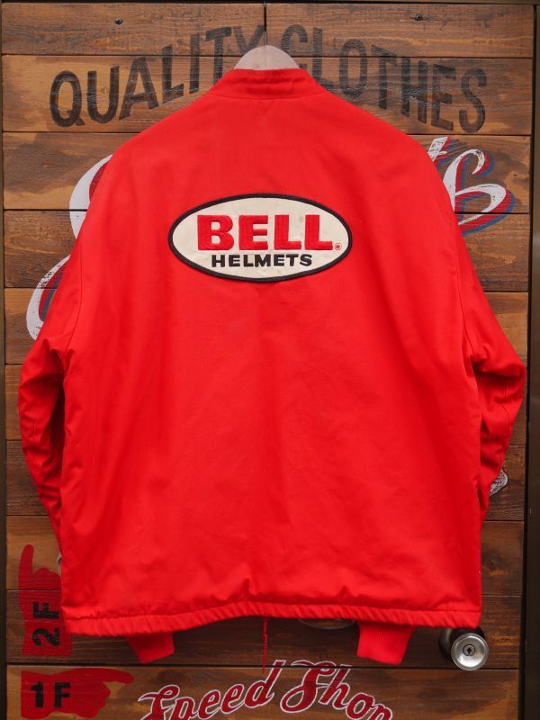 Bell Swingster Vtg Racing Raiders Boa Jacket Red L