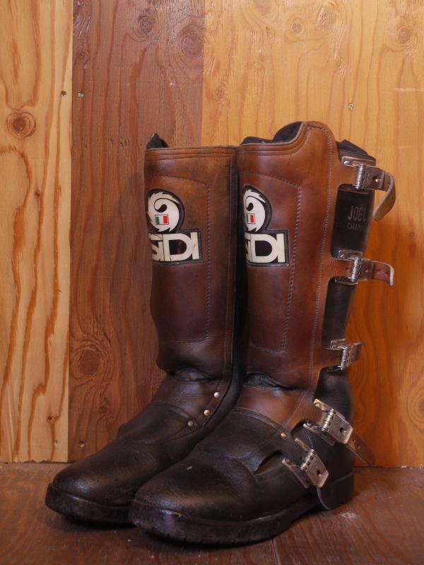 Sidi Vintage Motocross Boots Black 215 Brown 43 Sixhelmets