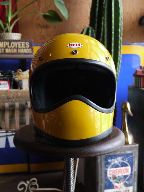 1970s Bell Moto Star Vintage Fullface Yellow 57cm