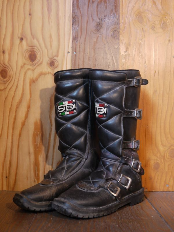 Sidi Sport Vintage Motocross Boots Black 26cm Sixhelmets